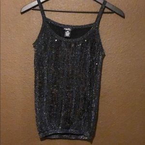 🖤 Black Sparkle Sequined Tank Top by Rue 21